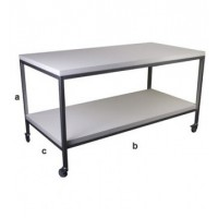 Salgsbord i 160 cm bredde og med 1 hylde